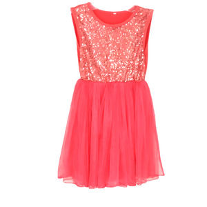 GIRLS 4T-5 SEQUIN & TULLE PARTY PRINCESS DRESS